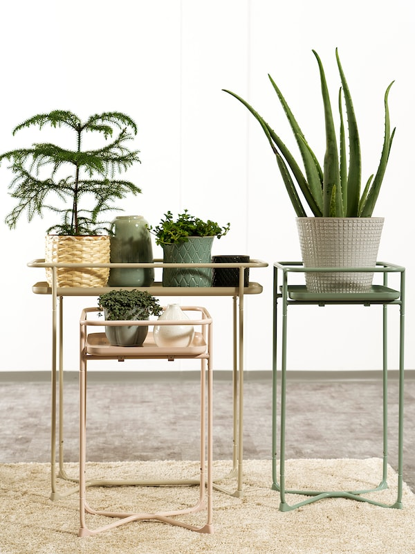 KRYDDPEPPAR plant stand in/outdoor pink 33 cm 33 cm 54 cm