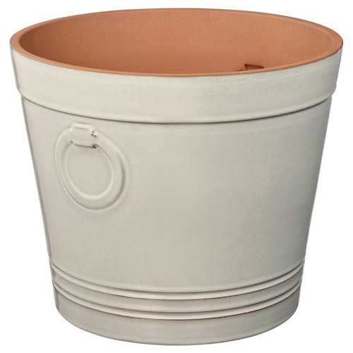 KRYDDTIMJAN plant pot in/outdoor white 26 cm 30 cm 24 cm 28 cm