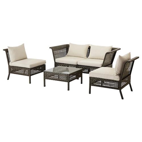 IKEA KUNGSHOLMEN 4-seat conversation set, outdoor