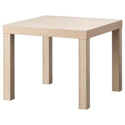 LACK طاولة جانبية, مظهر سنديان مصبوغ أبيض, 55x55 سم