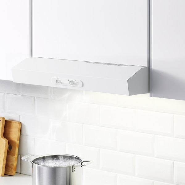 LAGAN Wall mounted extractor hood, white, 60 cm