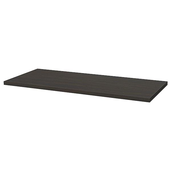 LAGKAPTEN / ADILS Desk, black-brown/black, 140x60 cm