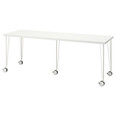 LAGKAPTEN / KRILLE Desk, white, 200x60 cm