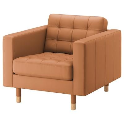 LANDSKRONA كرسي بذراعين, Grann/Bomstad ذهبي بني/خشبي