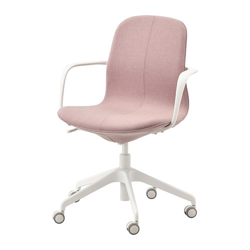 L 197 Ngfj 196 Ll Office Chair With Armrests Gunnared Light
