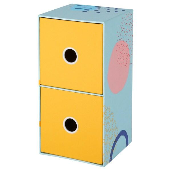 LANKMOJ mini chest with 2 drawers multicolour 25.0 cm 12.5 cm 12.5 cm