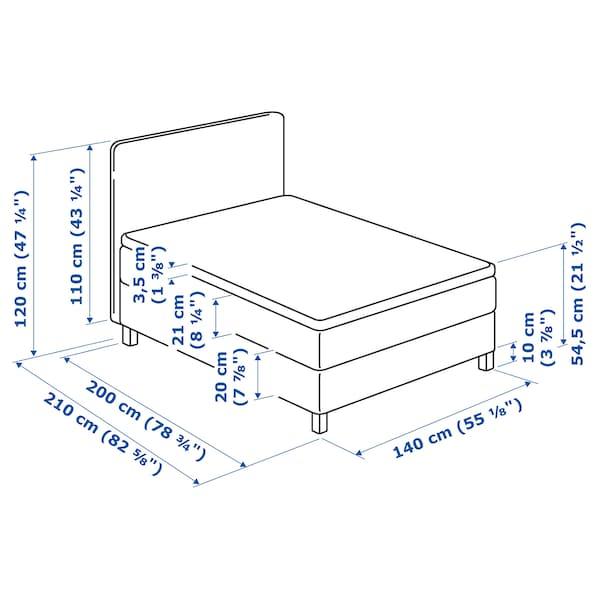 LAUVIK divan bed Hamarvik firm/Talgje dark beige 210 cm 140 cm 120 cm 200 cm 140 cm