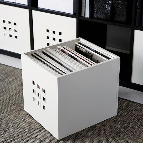 LEKMAN Box, white, 33x37x33 cm