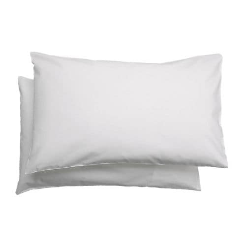 LEN Pillowcase for cot IKEA Protects the pillow from stains and dirt and prolongs its life.  Quick to remove, easy to wash.