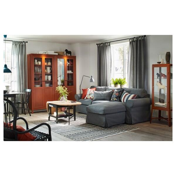 LENDA curtains with tie-backs, 1 pair grey 300 cm 140 cm 2.10 kg 4.20 m² 2 pack