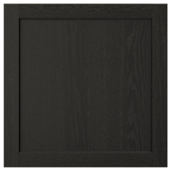 LERHYTTAN Door, black stained, 60x60 cm