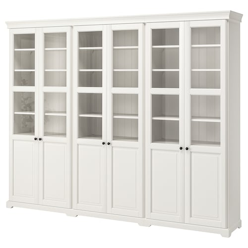 LIATORP storage combination with doors white 276 cm 38 cm 214 cm
