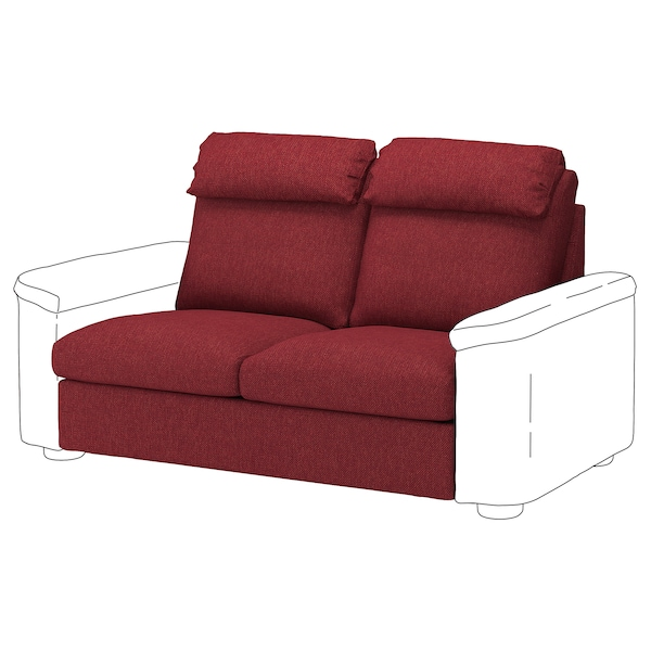 LIDHULT 2-seat sofa-bed section, Lejde red-brown