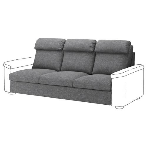 LIDHULT 3-seat section Lejde grey/black 95 cm 76 cm 211 cm 98 cm 53 cm 45 cm