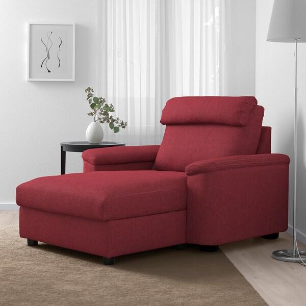 LIDHULT Chaise longue, Lejde red-brown