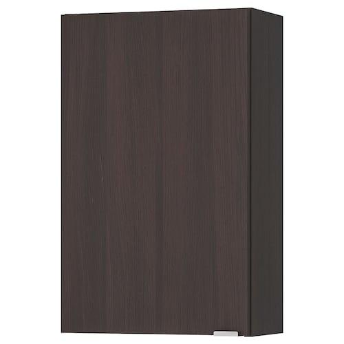 LILLÅNGEN wall cabinet black-brown 40 cm 21 cm 64 cm
