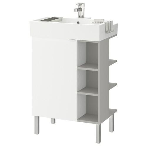 LILLÅNGEN washbasin cab 1 door/2 end units white/grey Ensen tap 61 cm 41 cm 92 cm