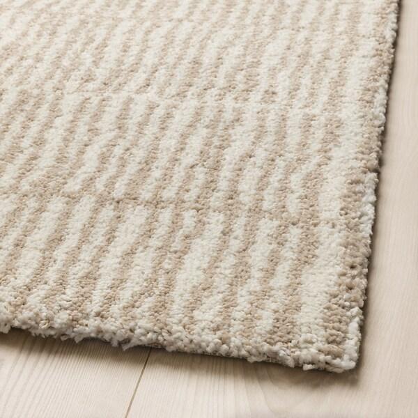 LINDELSE Rug, high pile, natural colour/beige, 170x240 cm