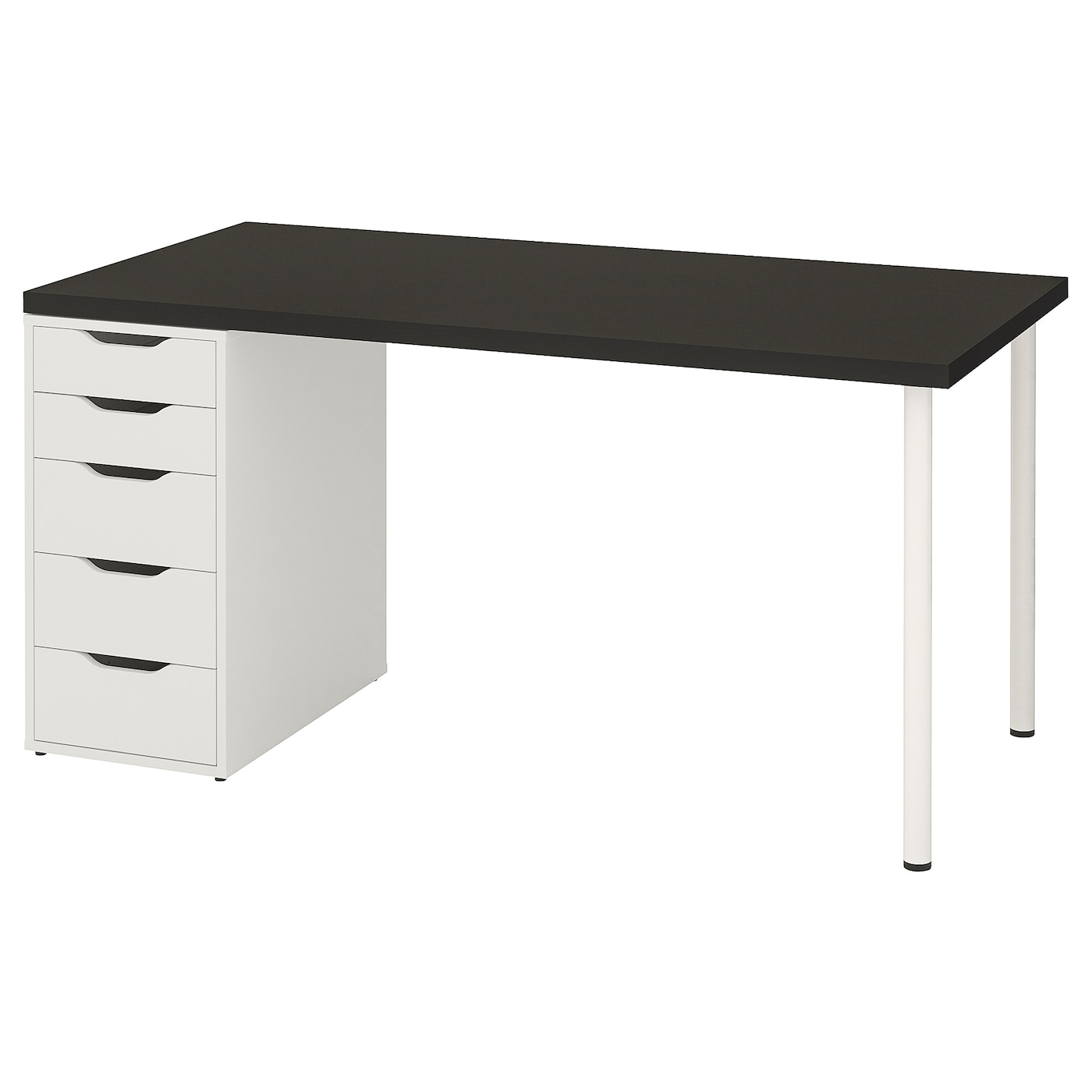LINNMON / ALEX Table - black-brown/white 12x12 cm