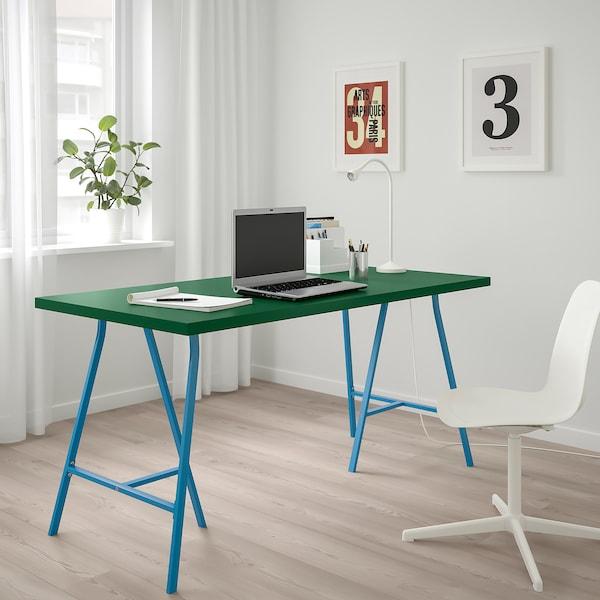 LINNMON / LERBERG Table, green/blue, 150x75 cm