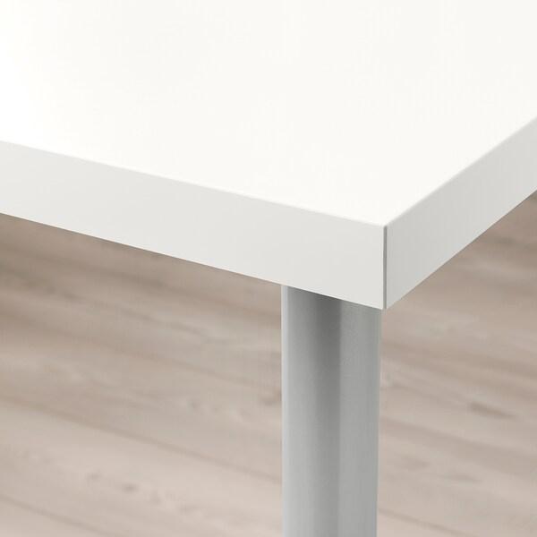 LINNMON / TORSKLINT Table, white/light grey, 120x60 cm