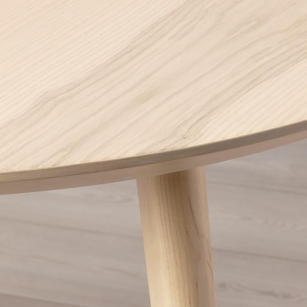 LISABO Table, ash veneer, 105 cm