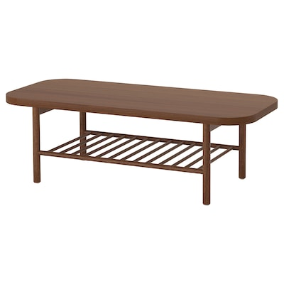 LISTERBY Coffee table, brown, 140x60 cm