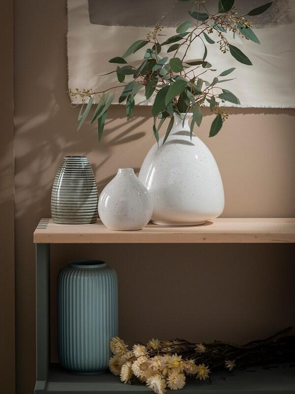 LIVSVERK vase green 14 cm