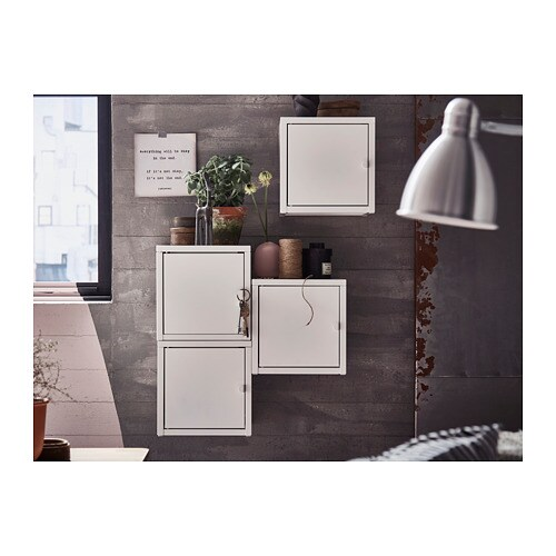 LIXHULT Wall-mounted cabinet combination IKEA Helps you keep track of small items like chargers, keys and wallets.