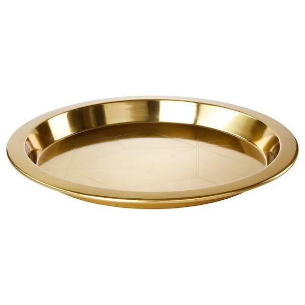 LJUV tray rounded/gold-colour 3 cm 45 cm