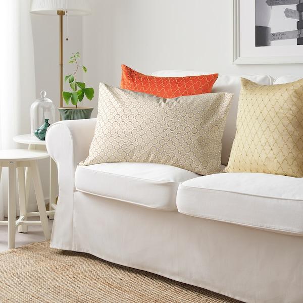LJUVARE Cushion cover, beige, 40x65 cm