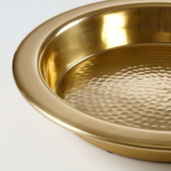 LJUVARE Serving plate, gold-colour, 35 cm