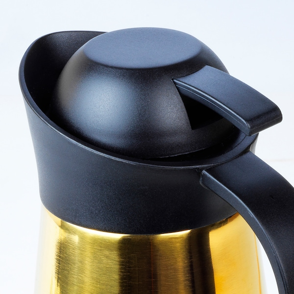 LJUVARE Vacuum flask, gold-colour, 1 l
