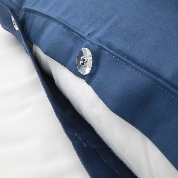 LUKTJASMIN غطاء لحاف و ٢ غطاء مخدة, أزرق غامق, 240x220/50x80 سم