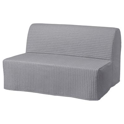 LYCKSELE HÅVET 2-seat sofa-bed, Knisa light grey