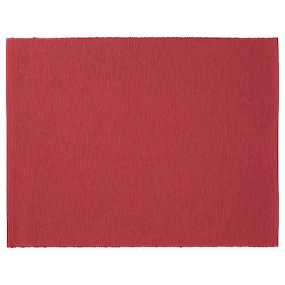 MÄRIT Place mat, dark red, 35x45 cm