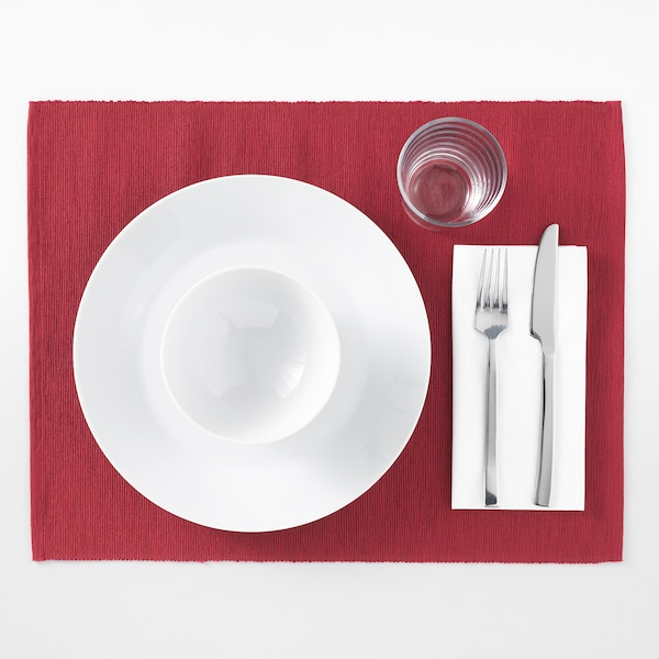 MÄRIT مفرش أطباق, أحمر غامق, 35x45 سم