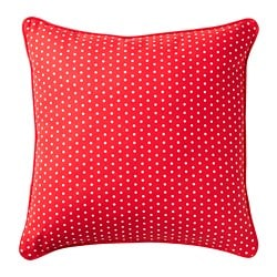 MALINMARIA cushion, red, white dotted