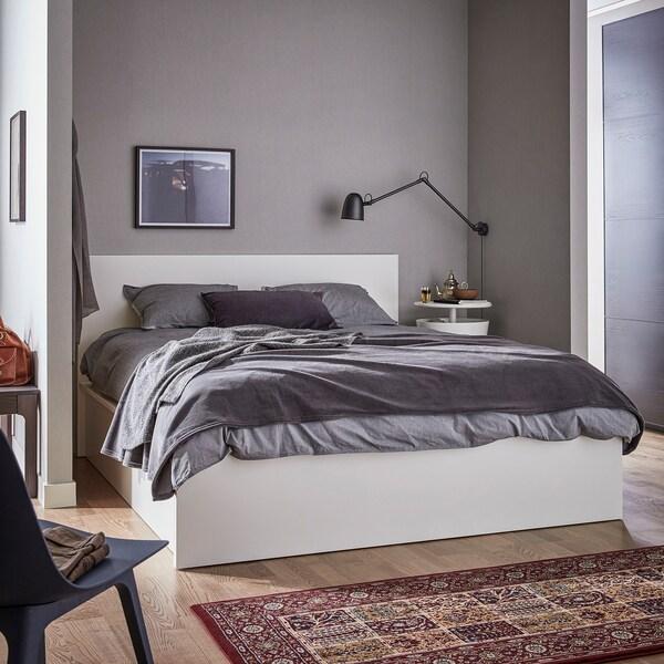 MALM سرير أوتومان, أبيض, 180x200 سم