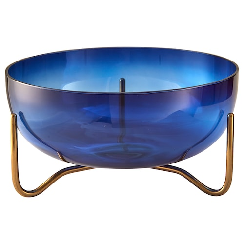 MASKERING bowl blue glass 11 cm 20 cm