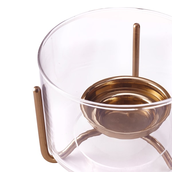 MASKERING tealight stand clear glass 12 cm 12 cm 9 cm