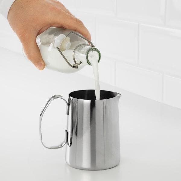 MÅTTLIG إبريق رغي الحليب, ستينلس ستيل, 0.5 ل