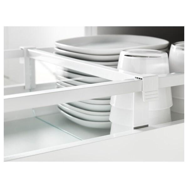 MAXIMERA Divider for medium drawer, white/transparent, 40 cm