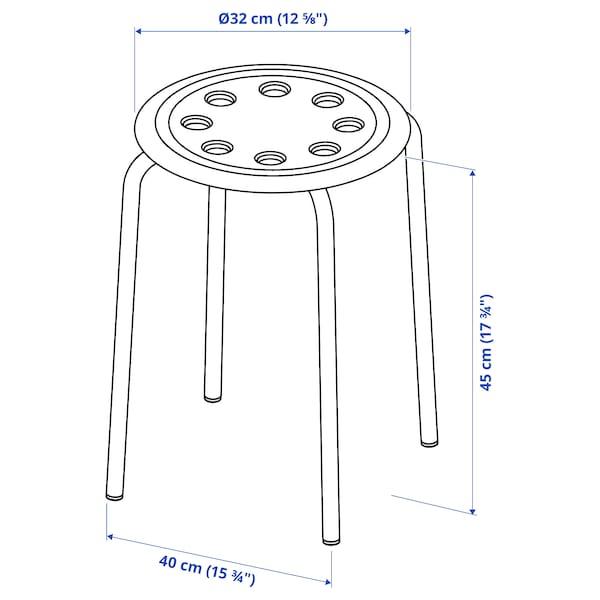 MELLTORP / MARIUS طاولة و 4 مقاعد, أبيض/أحمر, 125 سم