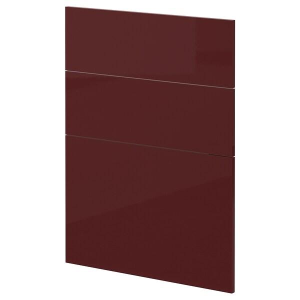 METOD 3 fronts for dishwasher Kallarp high-gloss/dark red-brown 60.0 cm 88.0 cm 80.0 cm 1.6 cm