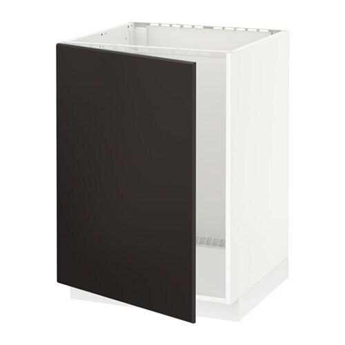 Metod Base Cabinet For Sink Black Järsta Orange 60x60 Cm: White, Kungsbacka Anthracite