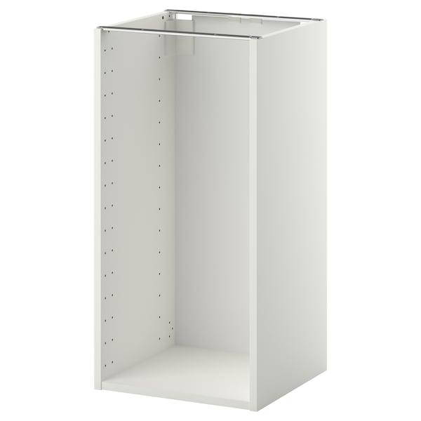 METOD اطار خزانة قاعدية, أبيض, 40x37x80 سم
