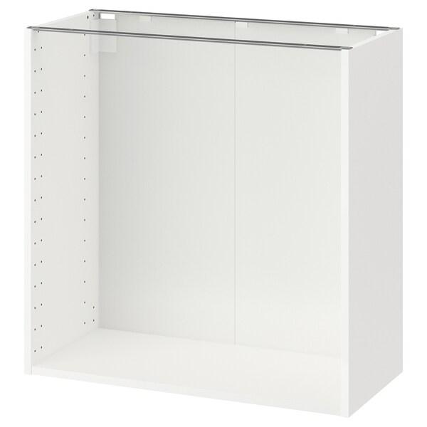 METOD اطار خزانة قاعدية, أبيض, 80x37x80 سم