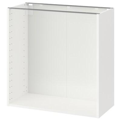 METOD Base cabinet frame, white, 80x37x80 cm