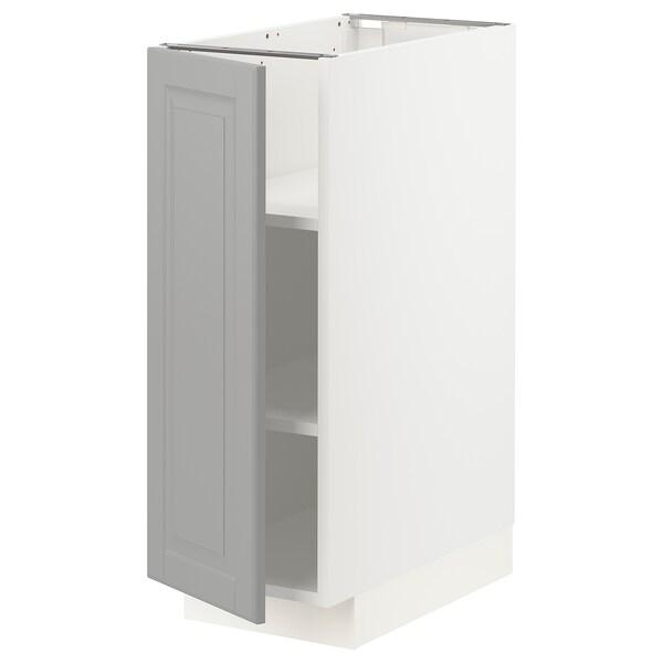 METOD خزانة قاعدة مع أرفف, أبيض/Bodbyn رمادي, 30x60 سم